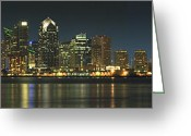 San Diego Greeting Cards - San Diego Cityscape Greeting Card by Mike McGlothlen