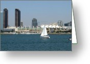 San Diego Greeting Cards - San Diego Skyline 5 Greeting Card by Joseph R Luciano
