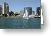 San Diego Greeting Cards - San Diego Skyline 8 Greeting Card by Joseph R Luciano