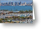 Point Loma Greeting Cards - San Diego Yacht Club Greeting Card by Russ Harris