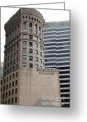 Tall Building Greeting Cards - San Francisco - Hobart Building on Market Street - 5D17870 Greeting Card by Wingsdomain Art and Photography