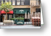 Maiden Greeting Cards - San Francisco - Maiden Lane - Mocca Cafe - 5D17788 Greeting Card by Wingsdomain Art and Photography