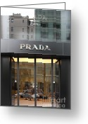 Maiden Greeting Cards - San Francisco - Maiden Lane - Prada Fashion Store - 5D17798 Greeting Card by Wingsdomain Art and Photography