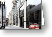Maiden Greeting Cards - San Francisco - Maiden Lane - Prada Italian Fashion Store - 5D17800 Greeting Card by Wingsdomain Art and Photography