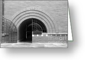 Maiden Greeting Cards - San Francisco - Maiden Lane - Xanadu Gallery - Frank Lloyd Architecture - 5D17793 - black and white Greeting Card by Wingsdomain Art and Photography