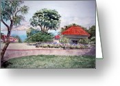 National Painting Greeting Cards - San Francisco - Park Presidio Greeting Card by Irina Sztukowski