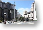 Fifth Greeting Cards - San Francisco - Union Square - 5D17933 Greeting Card by Wingsdomain Art and Photography