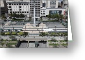 Fifth Greeting Cards - San Francisco - Union Square - 5D17942 Greeting Card by Wingsdomain Art and Photography