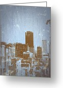 Street Digital Art Greeting Cards - San Francisco 2 Greeting Card by Irina  March