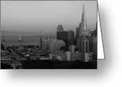 City And Colour Greeting Cards - San Francisco Greeting Card by Aidan Moran