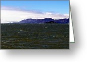 Alcatraz Greeting Cards - San Francisco Bay Panorama Greeting Card by Michael Courtney