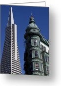 Sentinel Greeting Cards - San Francisco Buildings Greeting Card by Garry Gay