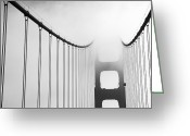 1930s Greeting Cards - San Francisco, California, Usa-fog Greeting Card by Keenpress