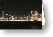 Cityscape Pyrography Greeting Cards - San Francisco Cityscape Greeting Card by Michael Meltser