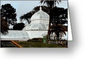 Golden Gate Park Greeting Cards - San Francisco Conservatory of Flowers at Golden Gate Park . 7D5849 Greeting Card by Wingsdomain Art and Photography