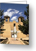 Pueblos Greeting Cards - San Francisco de Asis Greeting Card by Kurt Van Wagner