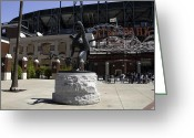Ballparks Greeting Cards - San Francisco Giants Ballpark  Statue of Juan Marichal Greeting Card by Paul Plaine