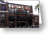 Ballparks Greeting Cards - San Francisco Giants Baseball Park Greeting Card by Paul Plaine