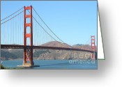 Vistas Greeting Cards - San Francisco Golden Gate Bridge . 7D7802 Greeting Card by Wingsdomain Art and Photography