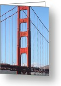 Vistas Greeting Cards - San Francisco Golden Gate Bridge . 7D7804 Greeting Card by Wingsdomain Art and Photography