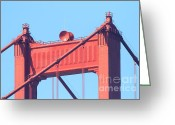 Vistas Greeting Cards - San Francisco Golden Gate Bridge . 7D7805 Greeting Card by Wingsdomain Art and Photography