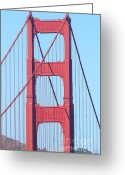 Vistas Greeting Cards - San Francisco Golden Gate Bridge . 7D7809 Greeting Card by Wingsdomain Art and Photography
