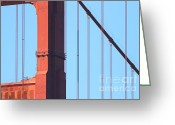 Vistas Greeting Cards - San Francisco Golden Gate Bridge . 7D7954 Greeting Card by Wingsdomain Art and Photography