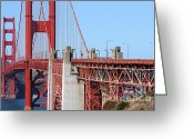Ggbridge Greeting Cards - San Francisco Golden Gate Bridge . 7D8166 Greeting Card by Wingsdomain Art and Photography
