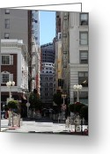 Maiden Greeting Cards - San Francisco Maiden Lane - 5D17059 Greeting Card by Wingsdomain Art and Photography