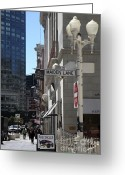 Maiden Greeting Cards - San Francisco Maiden Lane - 5D17096 Greeting Card by Wingsdomain Art and Photography