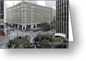 Tall Building Greeting Cards - San Francisco Market Street - 5D17873 Greeting Card by Wingsdomain Art and Photography
