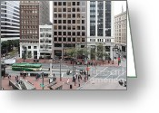 Tall Building Greeting Cards - San Francisco Market Street - 5D17877 Greeting Card by Wingsdomain Art and Photography