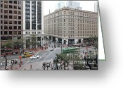 Tall Building Greeting Cards - San Francisco Market Street - 5D17883 Greeting Card by Wingsdomain Art and Photography