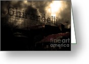 Factories Greeting Cards - San Francisco Nights At The Old Chocolate Factory . 7D13978 Greeting Card by Wingsdomain Art and Photography