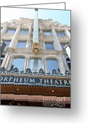 Billboards Greeting Cards - San Francisco Orpheum Theatre - 5D17987 Greeting Card by Wingsdomain Art and Photography