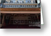 Billboards Greeting Cards - San Francisco Orpheum Theatre - 5D17988 Greeting Card by Wingsdomain Art and Photography