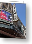 Billboards Greeting Cards - San Francisco Orpheum Theatre - 5D17990 Greeting Card by Wingsdomain Art and Photography
