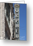 Billboards Greeting Cards - San Francisco Orpheum Theatre - 5D17996 Greeting Card by Wingsdomain Art and Photography