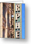 Billboards Greeting Cards - San Francisco Orpheum Theatre - 5D17997 - Painterly Greeting Card by Wingsdomain Art and Photography