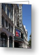 Billboards Greeting Cards - San Francisco Orpheum Theatre - 5D17997 Greeting Card by Wingsdomain Art and Photography