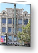 Billboards Greeting Cards - San Francisco Orpheum Theatre - 5D18003 Greeting Card by Wingsdomain Art and Photography
