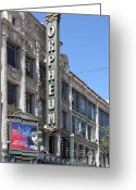 Billboards Greeting Cards - San Francisco Orpheum Theatre - 5D18007 Greeting Card by Wingsdomain Art and Photography