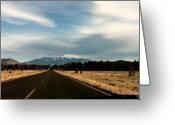 Western Sky Greeting Cards - San Francisco Peaks Greeting Card by Lauri Novak