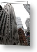 Tall Building Greeting Cards - San Francisco Shell Building - 5D17860 Greeting Card by Wingsdomain Art and Photography
