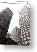 Tall Building Greeting Cards - San Francisco Tall Buildings in The Financial District - 5D17897 Greeting Card by Wingsdomain Art and Photography