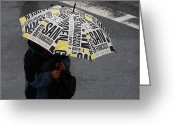 City And Colour Greeting Cards - San Francisco Umbrella Greeting Card by Aidan Moran
