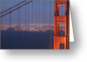 Marin Greeting Cards - San Francisco Visible Through The Golden Gate Brid Greeting Card by Stephan Hoerold