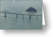 San Rafael Bridge Greeting Cards - San Franciscos Richmond-San Rafael Bridge Greeting Card by Eddy Joaquim