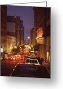 Thomas Luca Greeting Cards - San Francisico Street Greeting Card by Thomas Luca