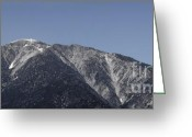 Snow-cap Greeting Cards - San Gabriel Mountains Greeting Card by Viktor Savchenko